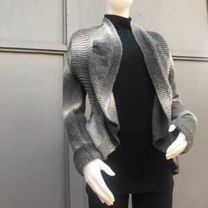 BCBG Maxazria Gray and Black Cardigan Size Large